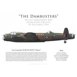 Lancaster Mk III, F/L Oram, No 617 Squadron RAF, Operation Obviate, 29 octobre 1944