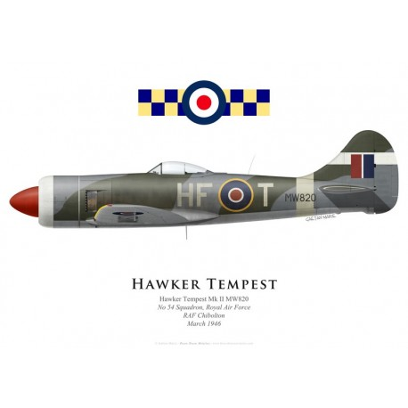 Hawker Tempest II MW820, No 54 Squadron, Royal Air Force, 1946