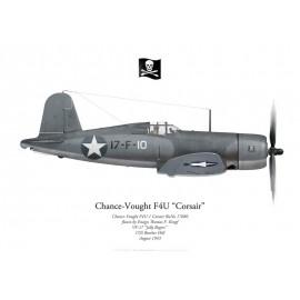 "F4U-1 Corsair, Ens. Thomas Kropf, VF-17 ""Jolly Rogers"", USS Bunker Hill, 1943"