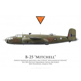 "North American Mitchell Mk II FR149 ""Hollandsche Nieuwe"", No 320 (Dutch) Squadron, Royal Air Force, 1944"