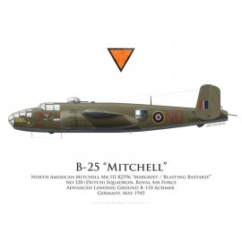 "Mitchell Mk III ""Margriet / Blasting Bastard !"", No 320 (Dutch) Squadron, Royal Air Force, 1945"