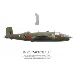North American Mitchell Mk II FV923, No 305 (Polish) Squadron, Royal Air Force, 1943