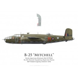 North American Mitchell Mk II FV948, No 305 (Polish) Squadron, Royal Air Force, 1943