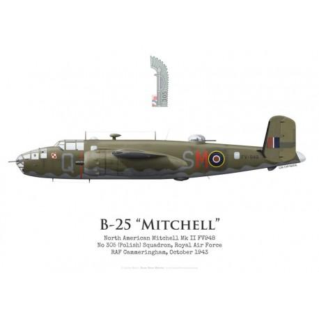 North American Mitchell Mk II FV948, No 305 (Polish) Squadron, Royal Air Force, 1943