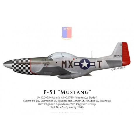 "P-51D Mustang 44-15745 ""Heavenly Body"", Lt. Nelson & Lt. Bourque, 82nd Fighter Squadron, 78th Fighter Group, 1945"