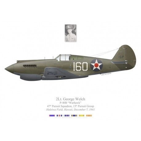 P-40B Warhawk, 2Lt George Welch, 47th PS, 15th PG, Haleiwa Field, Hawaï, 7 décembre 1941