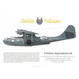 PBY-5A Catalina, Ens. Jack Reid, VP-44, bataille de Midway, juin 1942