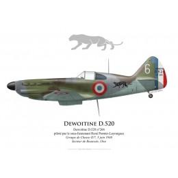 Dewoitine D.520, SLT René Pomier-Layrargues, Groupe de Chasse II/7, 5 June 1940, Beauvais
