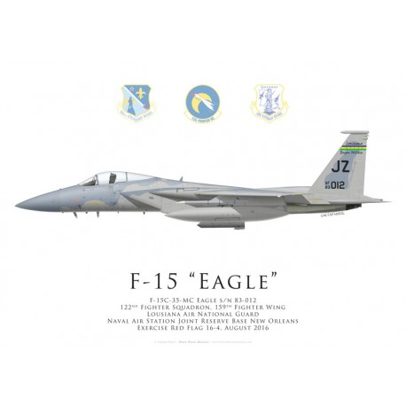 F-15 Eagle, 122nd Fighter Squadron, 159th Fighter Wing, Louisiana ANG