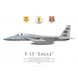 F-15C Eagle, 199th Fighter Squadron, 54th Fighter Wing, Hawaii ANG