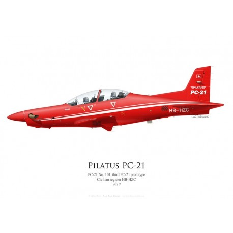 Pilatus PC-21 No 101, HB-HZC, third prototype