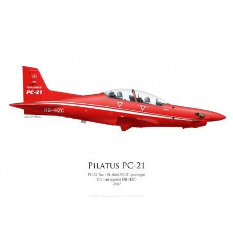 Pilatus PC-21 No 101, HB-HZC, third prototype