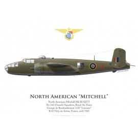 Mitchell Mk III, No 342 (French) Squadron, Royal Air Force, 1945