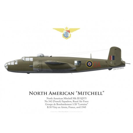 North American Mitchell Mk III KJ575, No 342 (French) Squadron, Royal Air Force, 1945