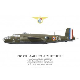 North American Mitchell Mk III KJ683, No 342 (French) Squadron, Royal Air Force, 1945