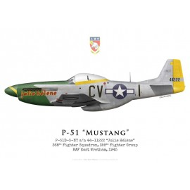 "P-51D Mustang ""Jolie Hélène"", 368th Fighter Squadron, 359th Fighter Group, 1945"