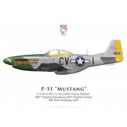 "P-51D Mustang ""Jolie Hélène"" 44-11222, 368th Fighter Squadron, 359th Fighter Group, 1945"