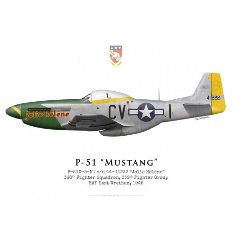 "P-51D Mustang ""Jolie Hélène"" 44-11222, 368th Fighter Squadron, 359th Fighter Group, 1945"