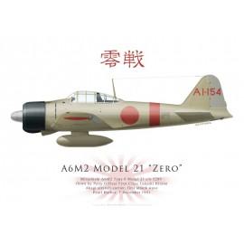 A6M2 Model 21 Zero, PM Takeshi Hirano, Akagi, Pearl Harbor, 7 décembre 1941