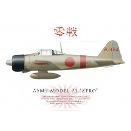 A6M2 Model 21 Zero, PO1c Takeshi Hirano, Akagi, Pearl Harbor, 7 décembre 1941