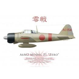 Mitsubishi A6M2 Model 21 Zero 5289, PO1c Takeshi Hirano, Akagi, Pearl Harbor, 7 December 1941
