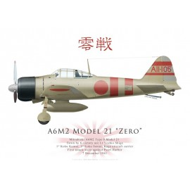 A6M2 Model 21 Zero, Lt Yoshio Shiga, Kaga, Pearl Harbor, 7 décembre 1941