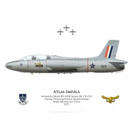 Atlas Impala Mk I, Flying Training School Langebaanweg, South African Air Force, 1971