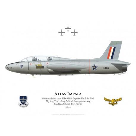 Atlas Impala Mk I, Flying Training School Langebaanweg, South African Air Force, 1971