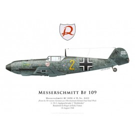 Bf 109E-4, Oblt. Helmut Wick, 3./JG 2, août 1940
