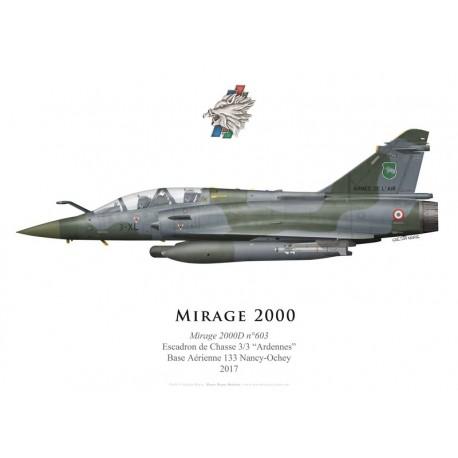 """Dassault Mirage 2000D No 603, EC 3/3 """"Ardennes"""", 2017"""