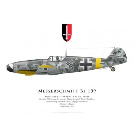 Messerschmitt Bf 109G-6, Major Gerhard Barkhorn, II./JG 52, 1943