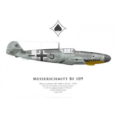 Messerschmitt Bf 109F-4, Uffz Gerhard Kitzenmaier, 5./JG 53, 1942