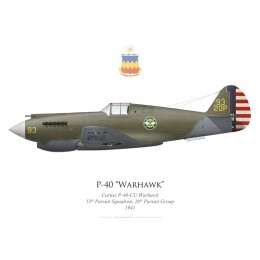 P-40-CU Warhawk, 55th Pursuit Squadron, 20th Pursuit Group, 1941