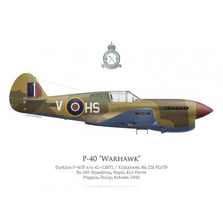 Curtiss P-40F / Kittyhawk Mk IIA FL279, No 260 Squadron RAF, Italie, 1943