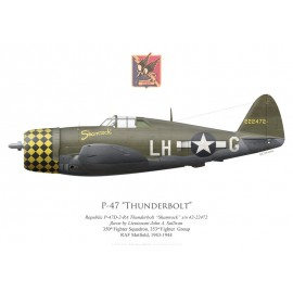 "P-47D Thunderbolt ""Shamrock"", Lt John Sullivan, 350th Fighter Squadron, 353rd Fighter Squadron, 1943"