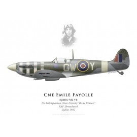 "Spitfire Mk Vb ""Général de Gaulle"", Cne Emile Fayolle, No 340 (Free French) Squadron, Royal Air Force, July 1942"