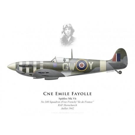 "Spitfire Mk Vb ""Général de Gaulle"", Cne Emile Fayolle, No 340 (Free French) Squadron, Royal Air Force, July 1942"