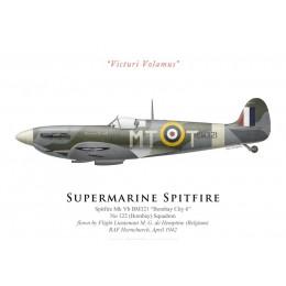 "Supermarine Spitfire Mk Vb BM321 ""Bombay City 6"", No 122 Squadron, F/L de Hemptine, 1942"
