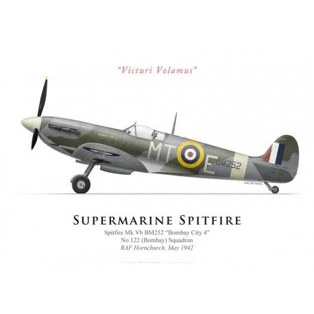 """Supermarine Spitfire Mk Vb BM252 """"Bombay City 4"""", No 122 Squadron, RAF Hornchurch, 1942"""