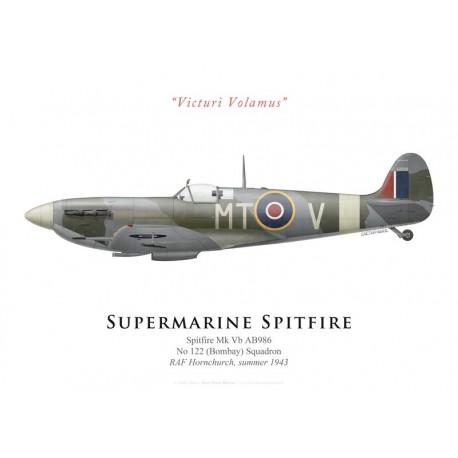 Supermarine Spitfire Mk Vb AB986, No 122 Squadron, RAF Hornchurch, summer 1943