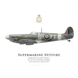 "Supermarine Spitfire Mk Vb AA850 ""Heather"", No 132 Squadron, RAF Newchurch, summer 1943"