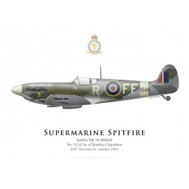 Spitfire Mk Vb, No 132 Squadron, RAF Newchurch, summer 1943