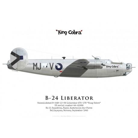 "Consolidated B-24M Liberator A72-179 ""King Cobra"", No 21 Squadron, Royal Australian Air Force, 1945"