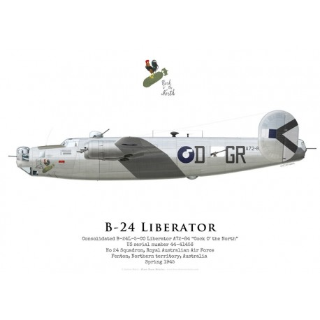 """Consolidated B-24L Liberator A72-84 """"Cock O' the North"""", No 24 Squadron, Royal Australian Air Force, 1945"""