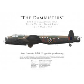Lancaster Mk III type 464 provisioning, P/O Ottley, No 617 Squadron RAF, Opération Chastise, 16 mai 1943