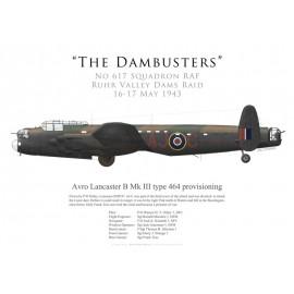 Lancaster Mk III type 464 provisioning, P/O Ottley, No 617 Squadron RAF, Opération Chastise, 16 mai 1943