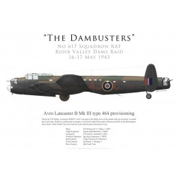 Avro Lancaster Mk III type 464 provisioning ED910, P/O Ottley, No 617 Squadron RAF, Operation Chastise, 16 May 1943