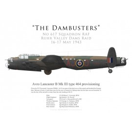 Lancaster Mk III type 464 provisioning, F/S Townsend, No 617 Squadron RAF, Opération Chastise, 16 May 1943