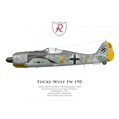 Focke-Wulf Fw 190A-5, Oblt. Josef Wurmheller, 9./JG 2