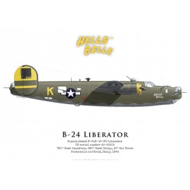 "B-24H ""Hell's Belle"", 781st Bomb Squadron, 465th Bomb Group, Italie, 1944"